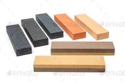 Industrial sharpening stones set