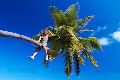 Man on Palm