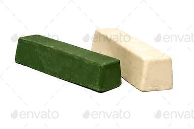 Polishing Buffing Compound Wax Brick  Green and White