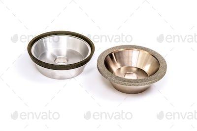 Industrial grinding and polishing wheel set