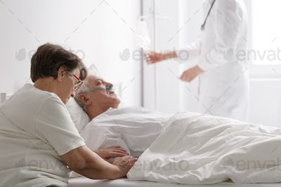 Woman with seriously ill husband