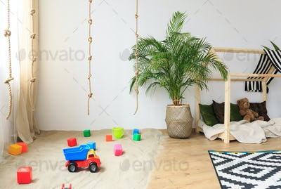 Child room in bohemian style