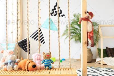 Natural bright baby playroom