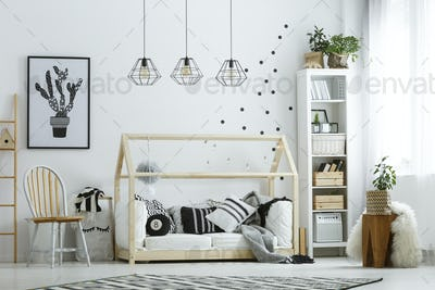 White furniture in room
