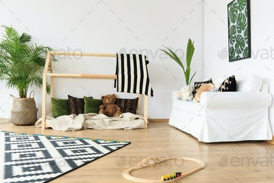 Modern minimalist toddler room