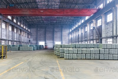 industrial finished products warehouse