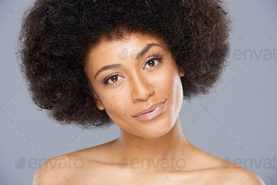 Pretty African American woman with a lovely smile