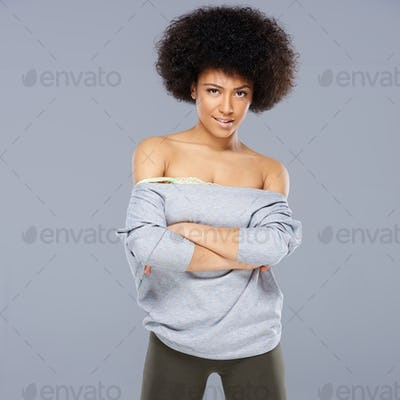 Sexy beautiful African American woman