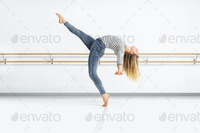 female dancer in action