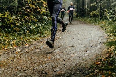 Athlete Runner Runs Marathon