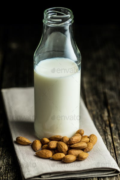 Healthy almond milk.