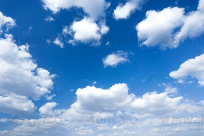 Blue sky and clouds