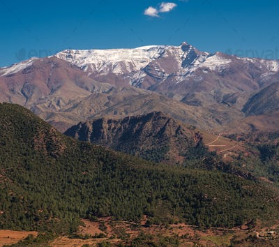 Morocco The High Atlas Mountain range view