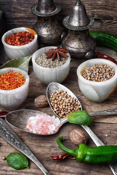 set of Indian spices