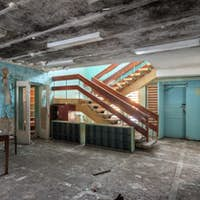 Interior abandoned building