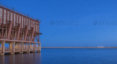 Loading platform of mineral placed in Almeria, Andalusia, Spain