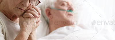 Dying patient and his wife