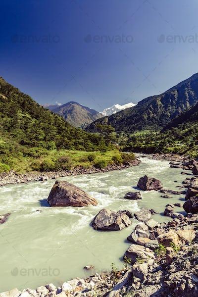Himalaya Inspirational Landscape Valley view