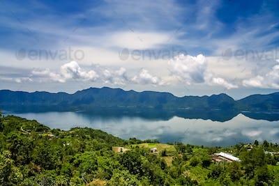 Lake Maninjao in Sumatra