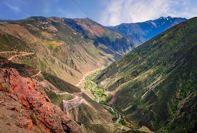 Mountain Valley in Yunnan