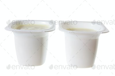Tubs of Yoghurt