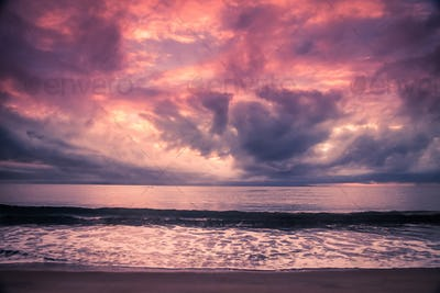 Madagascar coastline at sunset