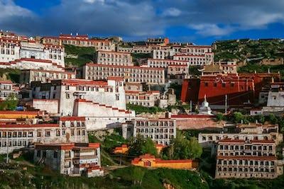 Gyantse monastery near Lhasa