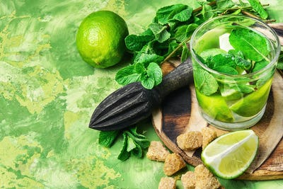 ingredients for Mojito cocktail