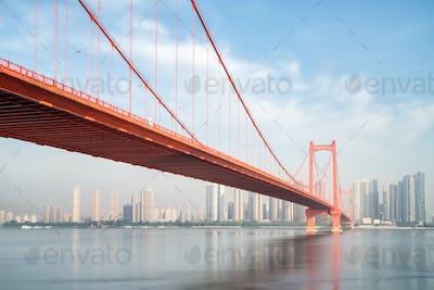 wuhan parrot shoal yangtze river bridge