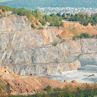 Surface mine in landscape