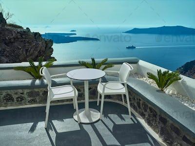 Landscape of Santorini Island, Fira, Cyclades, Greece