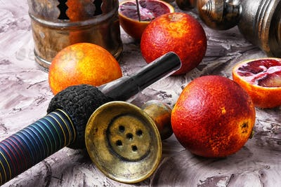 oriental hookah with orange taste