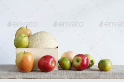 fruits with a white background