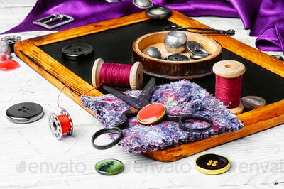 thread and buttons