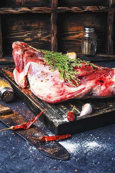 Raw meat mutton