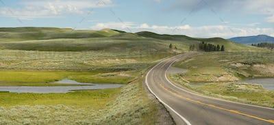 Road Crosses Over Elk Antler Creek Yellowstone NP