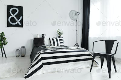 Bedroom with chair
