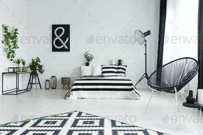 Bedroom with plants and decorations