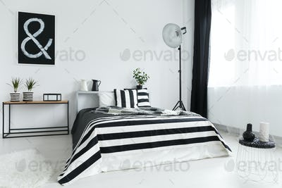 Bed and decorations in bedroom