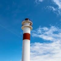 Lighthouse in  Rota, Cadiz, Spain