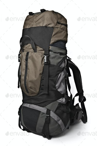 Trekking backpack isolated