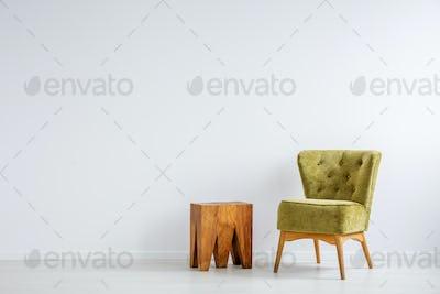 Stylish green armchair
