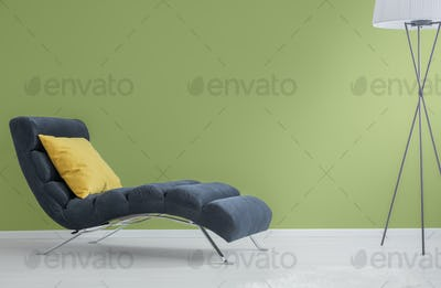 Navy blue chaise longue