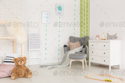 Nursery with green cactus stickers