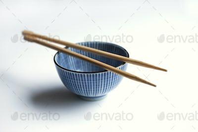 Porcelain bowl and chopsticks