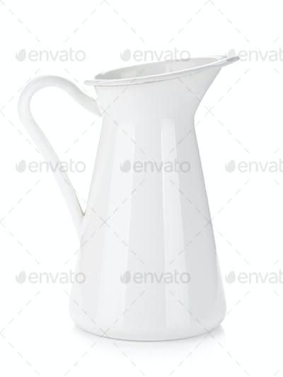 White metal milk pitcher