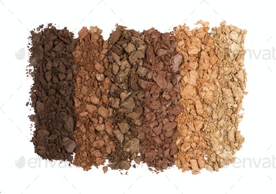 Set of crushed eye shadows