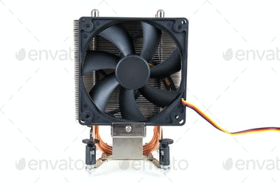 CPU cooler on white background