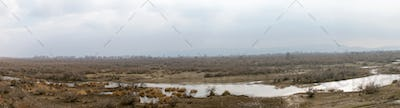 Part of the delta of river Evros, Greece, panoramic view