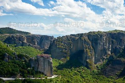 Landscape of Meteora rocks, Greece